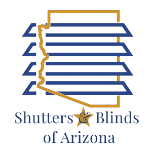 Shutters & Blinds of Arizona logo square blue