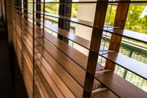 Wood blinds on window, Shutters & Blinds of Arizona, Scottsdale AZ