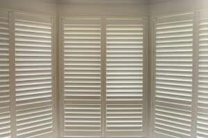 Bay window shutters set up, Shutters & Blinds of Arizona, Phoenix AZ